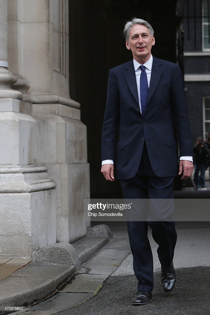 Secretary of State for Foreign and Commonwealth Affairs <a gi-track='captionPersonalityLinkClicked' href=/galleries/search?phrase=Philip+Hammond&family=editorial&specificpeople=2486715 ng-click='$event.stopPropagation()'>Philip Hammond</a> arrives at the Foreign and Commonwealth Affairs office May 8, 2015 in London, United Kingdom. Hammond was reappointed Foreign Secretary after the Conservative party, led by Prime Minister David Cameron, won a majority of seats in Parliament in yesterday's general election.