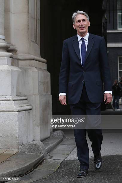 Secretary of State for Foreign and Commonwealth Affairs Philip Hammond arrives at the Foreign and Commonwealth Affairs office May 8 2015 in London...