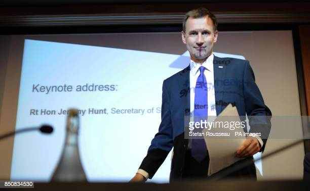 Secretary of State for Health Jeremy Hunt makes a speech on primary care to a conference on NHS leadership and management at the Kings Fund in London