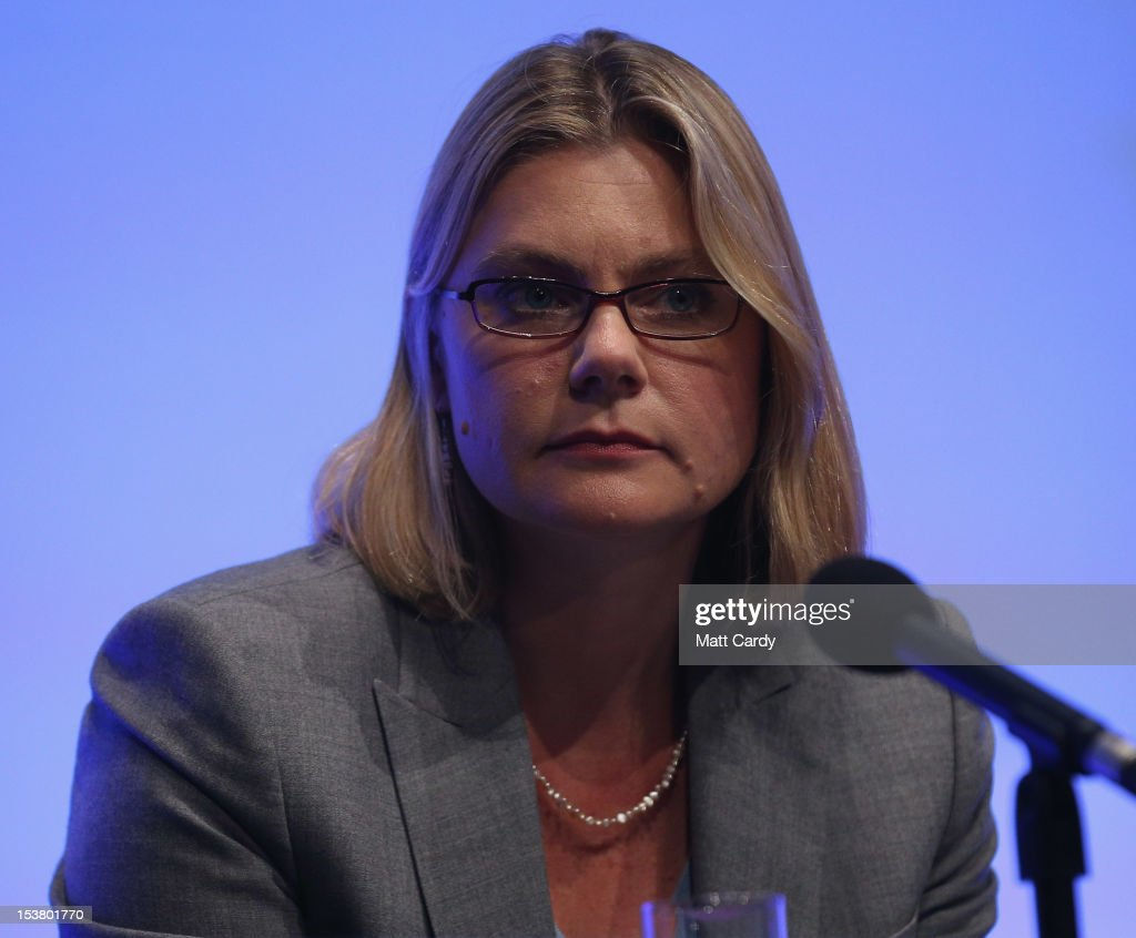 Secretary of State for International Development <a gi-track='captionPersonalityLinkClicked' href=/galleries/search?phrase=Justine+Greening&family=editorial&specificpeople=2466449 ng-click='$event.stopPropagation()'>Justine Greening</a> takes part in a panel discussion at the Conservative party conference in the International Convention Centre on October 9, 2012 in Birmingham, England. Today's penultimate day of the annual, four-day Conservative party conference features speeches from Cabinet ministers and the Mayor of London.
