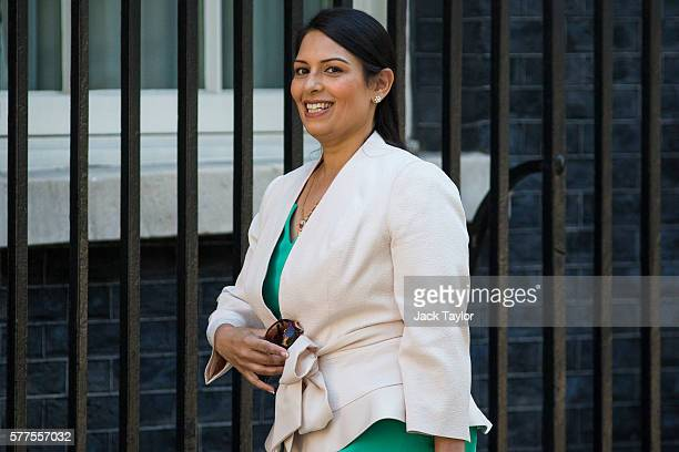 Secretary of State for International Development Priti Patel arrives at Downing Street for the weekly cabinet meeting on July 19 2016 in London...