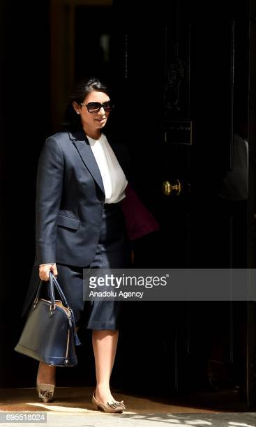 Secretary of State for International Development Priti Patel departs Downing Street on June 13 2017 in London United Kingdom The Prime Minister has...
