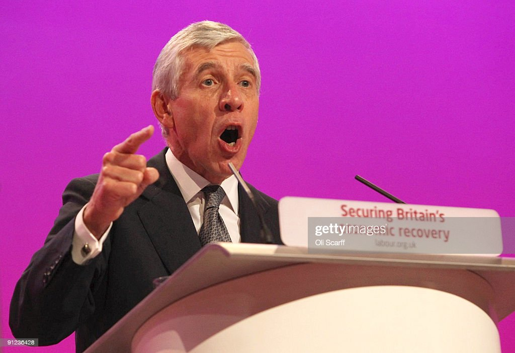 Secretary of State for Justice <a gi-track='captionPersonalityLinkClicked' href=/galleries/search?phrase=Jack+Straw&family=editorial&specificpeople=118608 ng-click='$event.stopPropagation()'>Jack Straw</a> speaks during the Labour Party Conference on September 29, 2009 in Brighton, England. Party officials and delegates are gathering in the seaside coastal resort for their last conference before the general election in 2010.