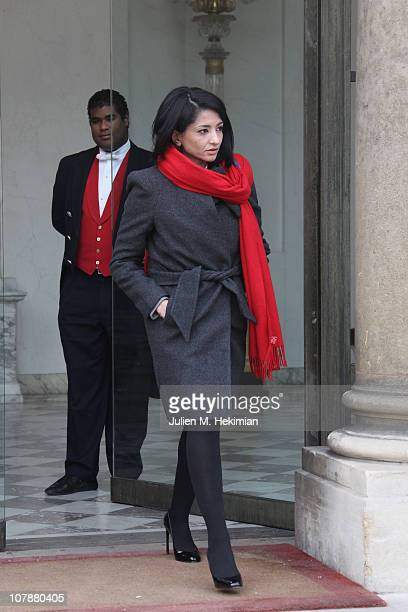 Secretary of State for National Education Youth and Associations Jeannette Bougrab leaves the first weekly cabinet meeting of the new year on January...