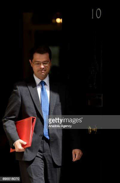 Secretary of State for Northern Ireland James Brokenshire departs Downing Street on June 13 2017 in London United Kingdom The Prime Minister has...