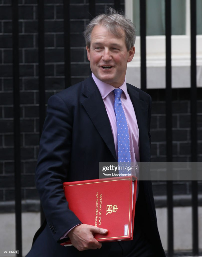 Secretary of State for Northern Ireland Owen Paterson leaves Number 10 Downing Street after attending his first full Cabinet meeting on May 13 2010...