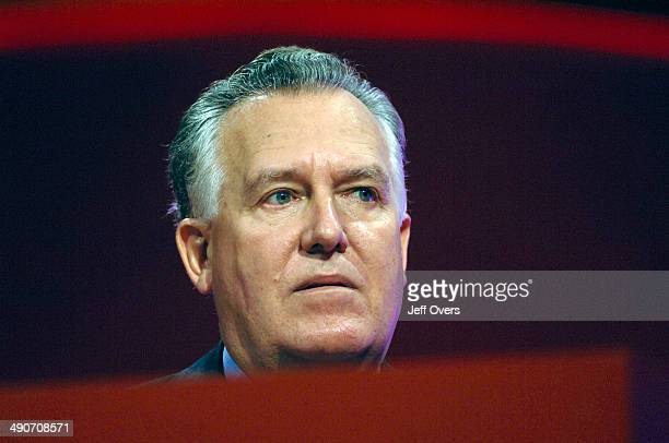 Secretary of State for Northern Ireland Peter Hain gives his keynote speech at the Labour Party conference in Manchester England Thursday Sept 28 2006