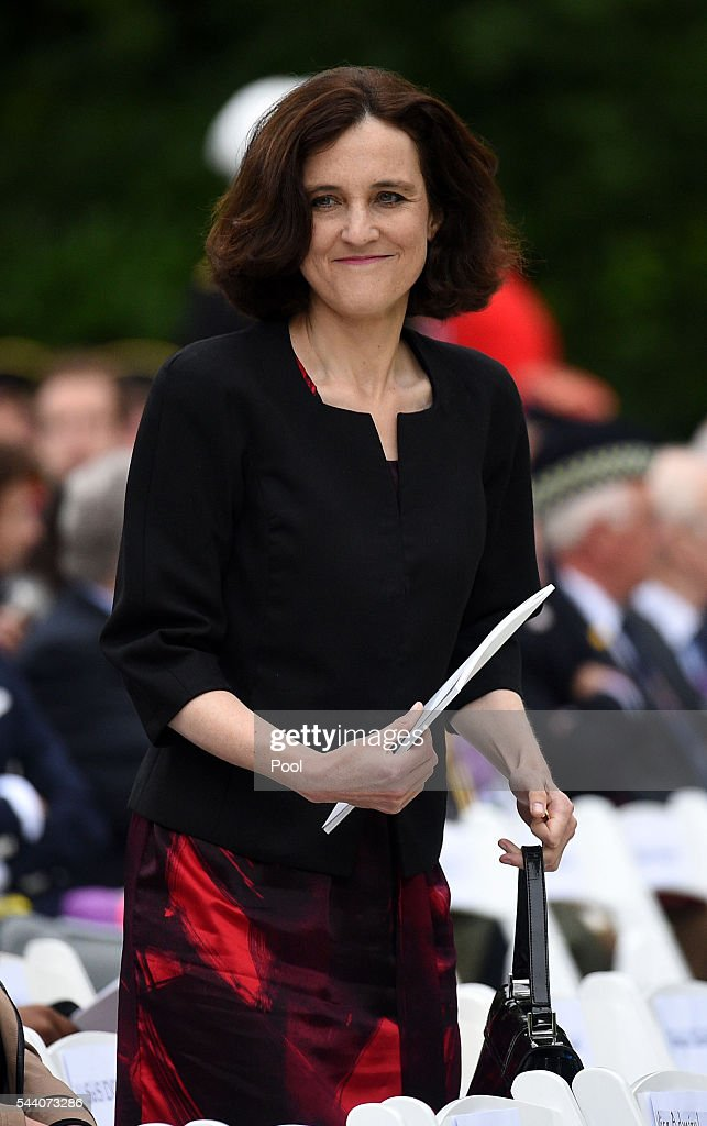 Secretary of State for Northern Ireland <a gi-track='captionPersonalityLinkClicked' href=/galleries/search?phrase=Theresa+Villiers&family=editorial&specificpeople=2122013 ng-click='$event.stopPropagation()'>Theresa Villiers</a> during the Commemoration of the Centenary of the Battle of the Somme at the Commonwealth War Graves Commission Thiepval Memorial on July 1, 2016 in Thiepval, France. The event is part of the Commemoration of the Centenary of the Battle of the Somme at the Commonwealth War Graves Commission Thiepval Memorial in Thiepval, France, where 70,000 British and Commonwealth soldiers with no known grave are commemorated.
