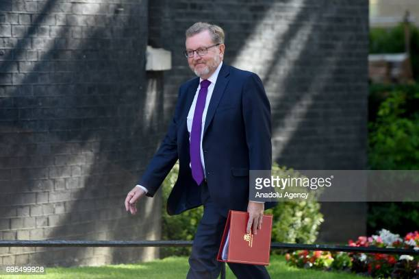 Secretary of State for Scotland David Mundell arrives at Downing Street in London United Kingdom on June 13 2017 The Prime Minister has reshuffled...