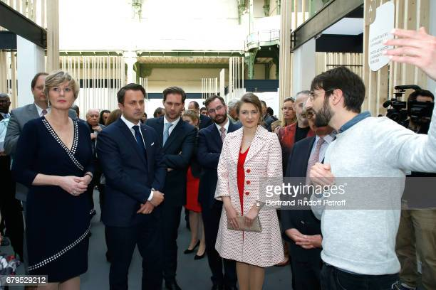 Secretary of State for the Economy of Luxembourg Francine Closener Prime Minister of Luxembourg Xavier Bettel Architect Gauthier Destenay GrandDuc...