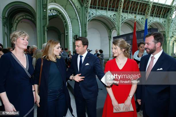 Secretary of State for the Economy of Luxembourg Francine Closener Actress Julie Gayet Prime Minister of Luxembourg Xavier Bettel GrandeDuchesse...