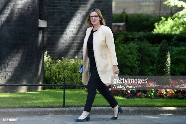 Secretary of State for the Home Department Amber Rudd arrives at Downing Street in London United Kingdom on June 13 2017 The Prime Minister has...