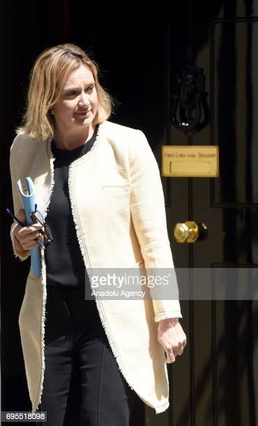 Secretary of State for the Home Department Amber Rudd departs Downing Street on June 13 2017 in London United Kingdom The Prime Minister has...