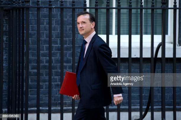 Secretary of State for Wales Alun Cairns arrives at Downing Street in London United Kingdom on June 13 2017 The Prime Minister has reshuffled her...
