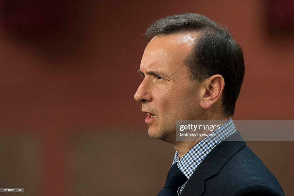 Secretary of State for Wales Alun Cairns gives an interview during the National Assembly for Wales election count at the Sport Wales National Centre on May 05, 2016 in Cardiff, Wales. Today the UK went to the polls to vote for assembly members, councillors, mayors and police commissioners.