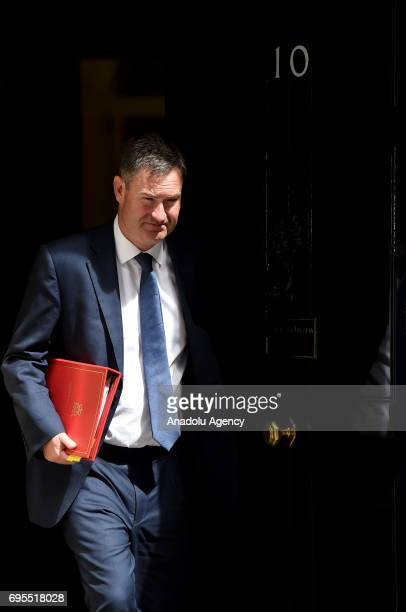 Secretary of State for Work and Pensions David Gauke departs Downing Street on June 13 2017 in London United Kingdom The Prime Minister has...