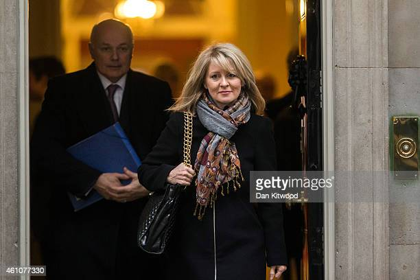 Secretary of State for Work and Pensions Iain Duncan Smith and Esther McVey Minister for Employment and Disabilities leave Downing Street after a...