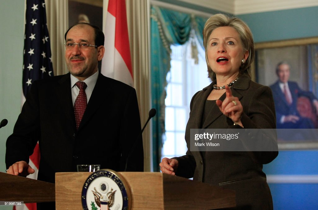 Hillary Clinton Meets With Iraqi PM Al-Maliki At State Dep't