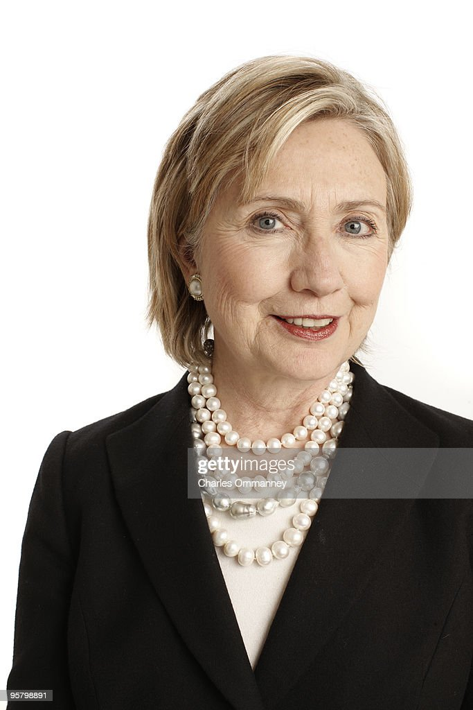 Secretary of State <a gi-track='captionPersonalityLinkClicked' href=/galleries/search?phrase=Hillary+Clinton&family=editorial&specificpeople=76480 ng-click='$event.stopPropagation()'>Hillary Clinton</a> in Dr. Henry Kissinger's offices in New York, NY, on December 11, 2009, photographed for Newsweek Magazine. Published Image.