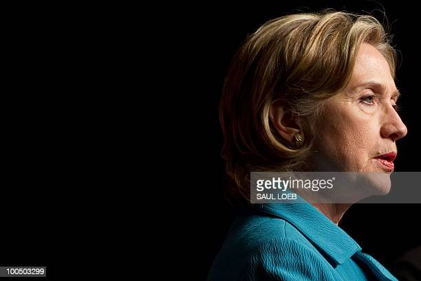 US Secretary of State Hillary Clinton speaks during a press conference following the conclusion of the Second Round of the USChina Strategic Economic...