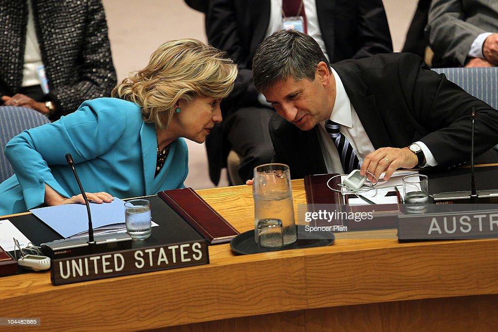 Hillary Clinton Attends UN Security Council Mtg On International Terrorism