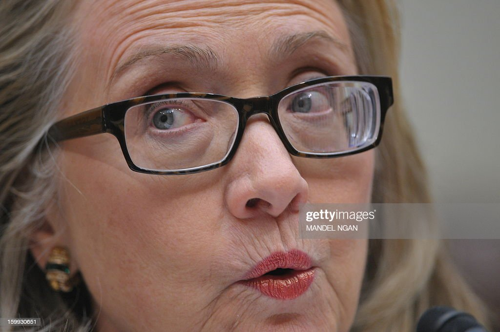 US Secretary of State Hillary Clinton testifies before the House Foreign Affairs Committee on the September 11, 2012 attack on the US mission in Benghazi, Libya in the Rayburn House Office Building on January 23, 2013 in Washington, DC. AFP PHOTO/Mandel NGAN