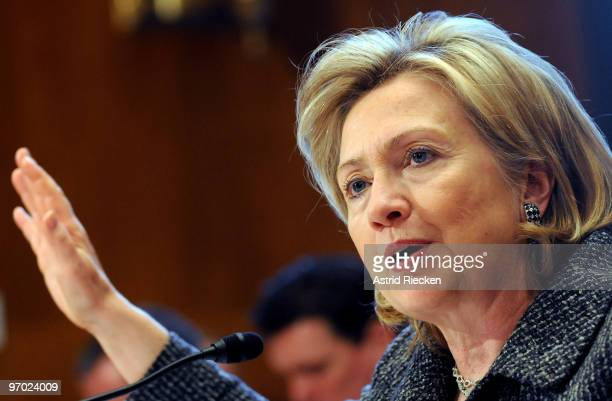 Secretary of State Hillary Clinton testifies before the Senate Appropriations Committee on the FY2011 Budget Request for the Department of State on...