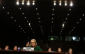 S Secretary of State Hillary Clinton testifies before the Senate Foreign Relations Committee about the September 11 attacks against the US mission in...