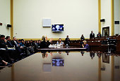 S Secretary of State Hillary Clinton testifies during a hearing before the House Foreign Affairs Committee October 27 2011 on Capitol Hill in...