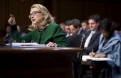 Secretary of State Hillary Clinton testifies during the Senate Foreign Relations Committee hearing on the September 11th attacks against the US...