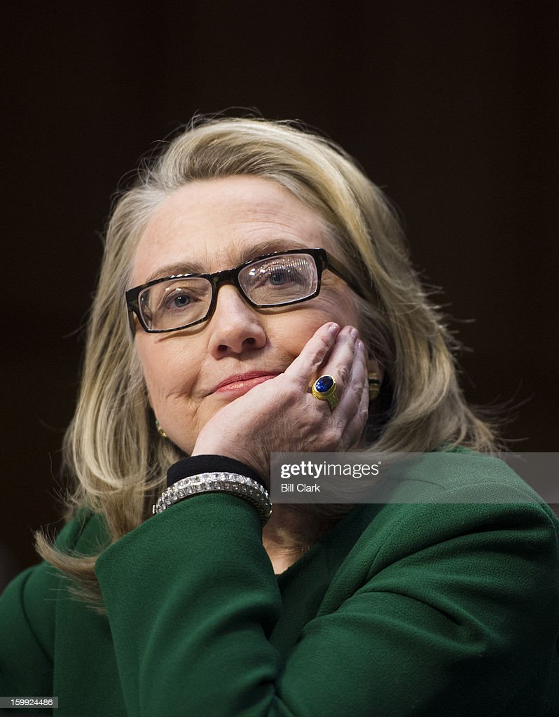 Secretary of State Hillary Clinton testifies during the Senate Foreign Relations Committee hearing on the September 11th attacks against the U.S. mission in Benghazi on Wednesday morning, January 23, 2013.