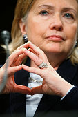 S Secretary of State Hillary Rodham Clinton speaks during a hearing before the Senate Foreign Relations Committee December 3 2009 on Capitol Hill in...