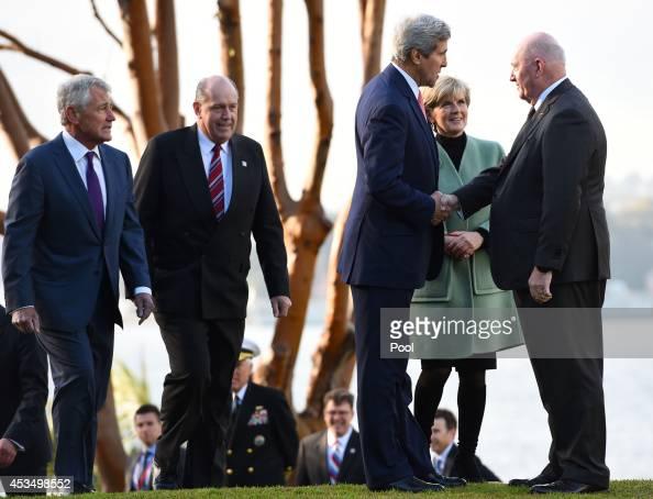 Secretary of State John Kerry along with US Secretary of Defence Chuck Hagel Australian Defence Minister David Johnston and Australian Foreign...
