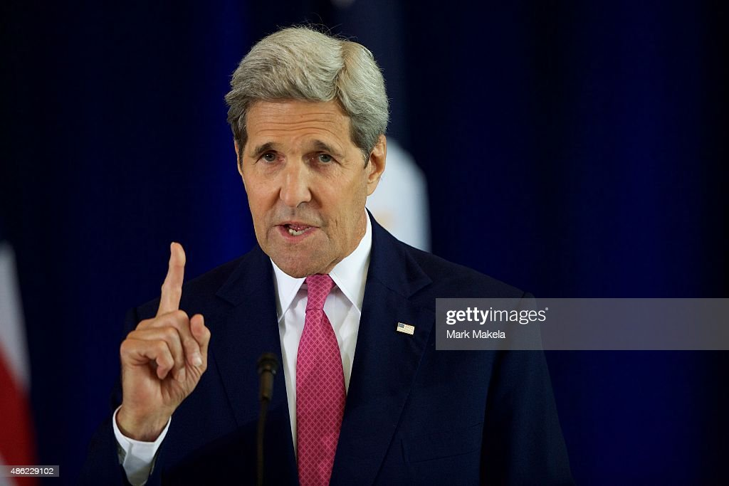 U.S. Secretary of State <a gi-track='captionPersonalityLinkClicked' href=/galleries/search?phrase=John+Kerry&family=editorial&specificpeople=154885 ng-click='$event.stopPropagation()'>John Kerry</a> delivers a speech on the nuclear agreement with Iran at the National Constitution Center on September 2, 2015 in Philadelphia, Pennsylvania. U.S. Sen. Barbara Mikulski (D-MD) announced her support for the Iran nuclear deal, becoming the 34th Democratic senator to back the president and garnering enough votes for the deal to survive in congress.