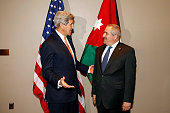 S Secretary of State John Kerry meets with Jordanian Foreign Minister Nasser Judeh at United Nations headquarters April 27 2015 In New York City...