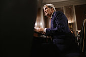 S Secretary of State John Kerry prepares to testifies before the Senate Foreign Relations Committee about the Convention on the Rights of Persons...