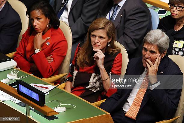 S Secretary of State John Kerry United States Ambassador to the United Nations Samantha Power and United States National Security Advisor Susan Rice...
