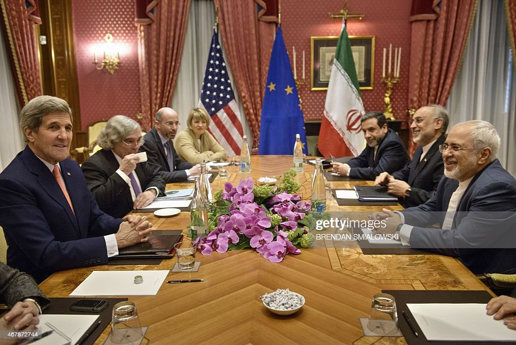 US Secretary of State John Kerry US Secretary of Energy Ernest Moniz the head of the Iranian Atomic Energy Organization Ali Akbar Salehi and Iranian...