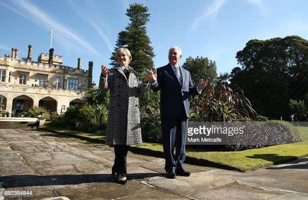 Secretary of State Rex Tillerson and Australian Minister for Foreign Affairs Julie Bishop take a garden walk at Government House for the 2017...
