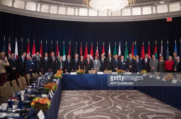 US Secretary of State Rex Tillerson attends a meeting titled 'Shaping the Peace The Global Coalition to Defeat ISIS Meeting on Iraq' at the Lotte New...