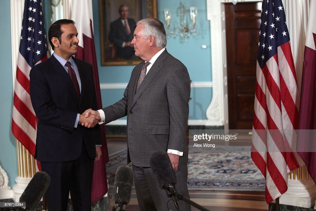 Secretary Of State Rex Tillerson Meets With Qatari Foreign Minister