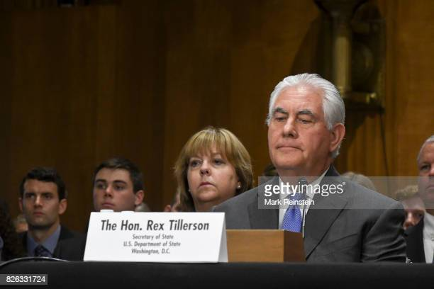 US Secretary of State Rex Tillerson testifies before the Senate Appropriations Committee on Foreign Operations Washington DC June 13 2017