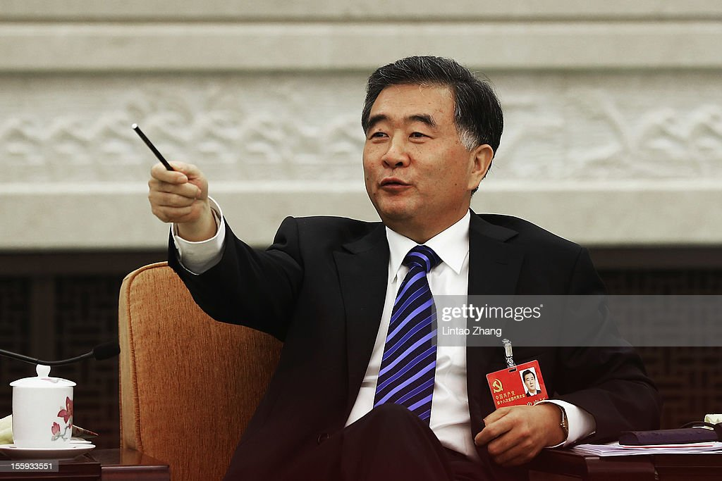 Secretary of the CPC Guangdong Committee Wang Yang speech during a meeting of the 18th Communist Party Congress at the Great Hall of the People on November 9, 2012 in Beijing, China. The Communist Party Congress will convene from November 8-14 and will determine the party's next leaders.