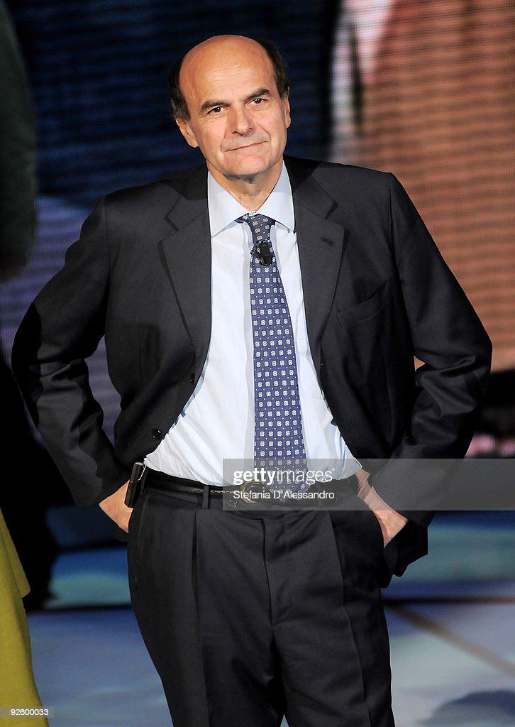 Secretary of the Democratic Party Pierluigi Bersani attends the 'Che Tempo Che Fa' TV Show on November 1 2009 in Milan Italy