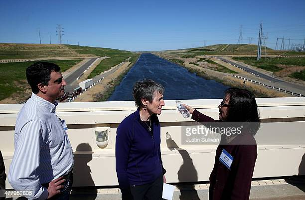 S Secretary of the Interior Sally Jewell tours the federal CW 'Bill' Jones Pumping Plant with Assistant Executive Director of the San Luis...
