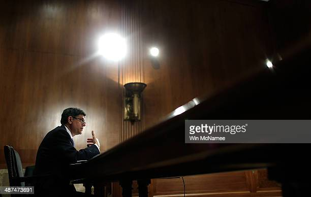 S Secretary of the Treasury Jack Lew testifies before the Senate Appropriation Committee's Financial Services and General Government Subcommittee...