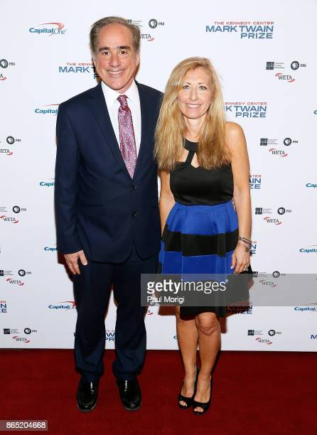 S Secretary of Veteran Affairs David J Shulkin and his wife Merle Bari arrive to the 2017 Mark Twain Prize for American Humor at The Kennedy Center...
