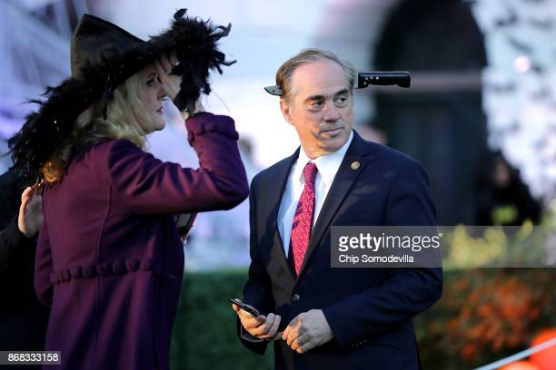 S Secretary of Veterans Affairs David Shulkin attends Halloween at the White House on the South Lawn October 30 2017 in Washington DC President...
