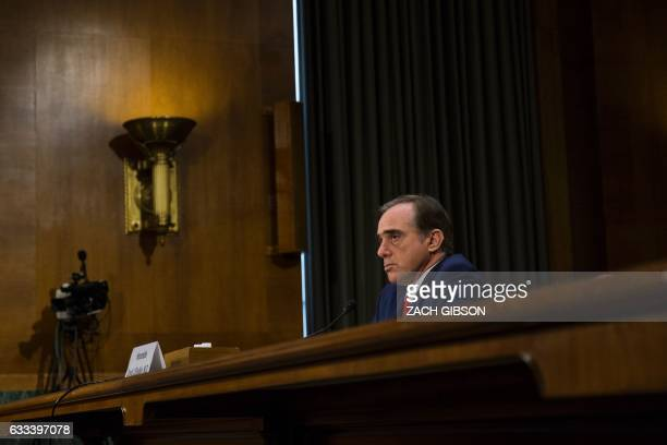Secretary of Veterans' Affairsdesignate David Shulkin testifies during a Senate Veterans' Affairs confirmation hearing on Capitol Hill in Washington...