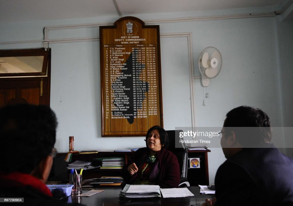Secretary Vandana Jena visits her first posting as SDM in Ukhrul district, on January 16, 2015 in Manipur, India.